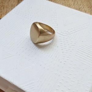 J. Crew Brass Signet Ring